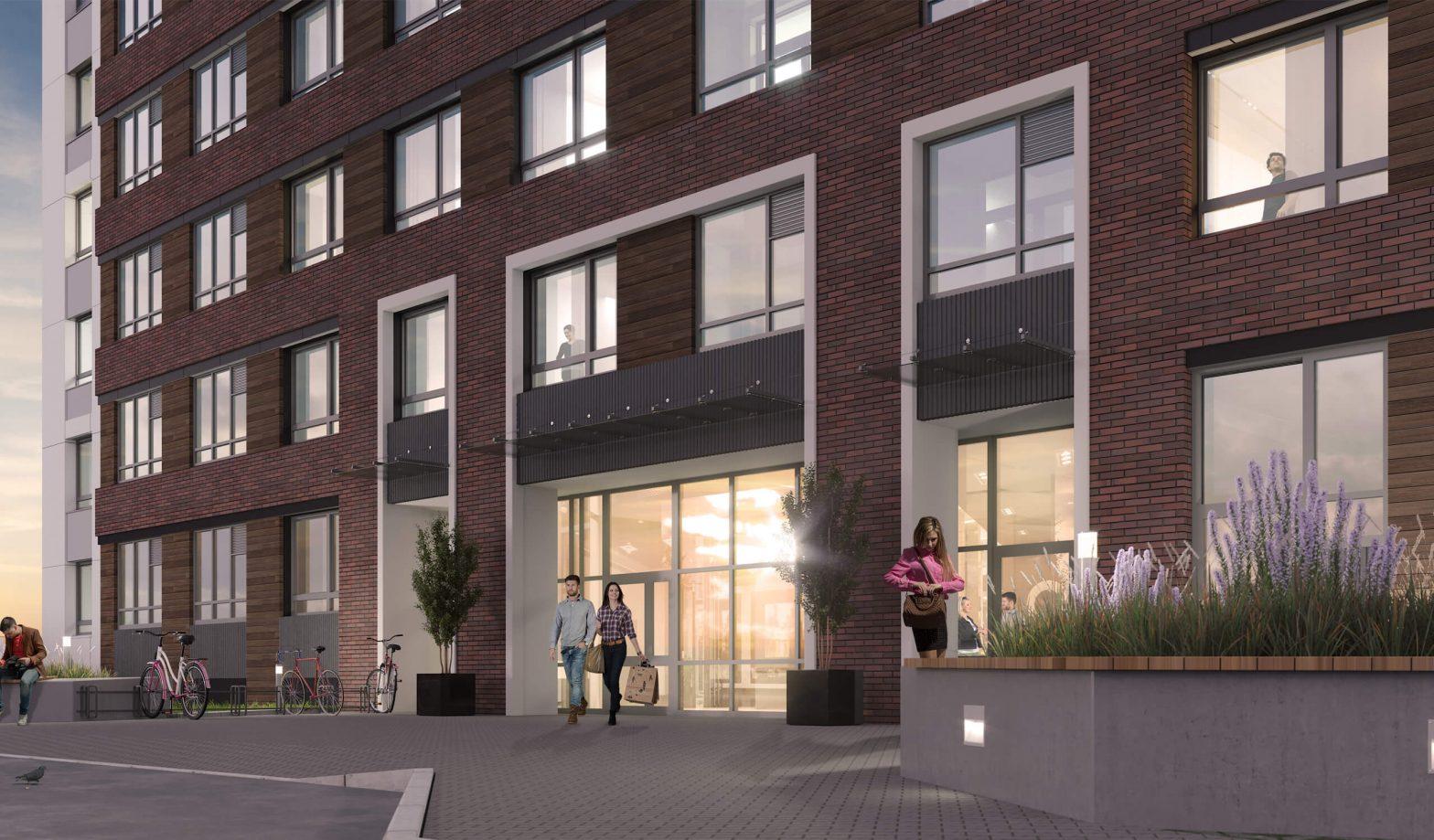 Проектирование фасада многоквартирного жилого комплекса